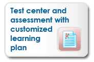 Test Center and Assessment With Customized Learning Plan